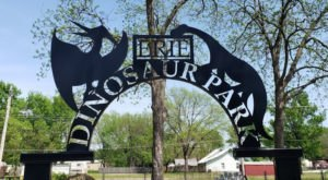 Feel Like You're Stomping Through The Age Of Dinosaurs At The Educational Erie Dinosaur Park In Kansas