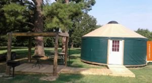 The Dreamy Yurts At Lake Eufaula Are In An Idyllic Setting, Making Them An Ideal Summer Destination In Oklahoma