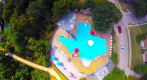 You'll Find A One-Of-A-Kind Saltwater Pool Shaped Like Texas In Plano