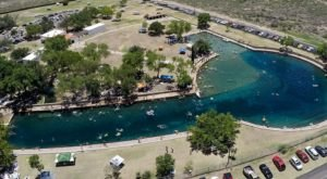 Relax In A Tropical Wonderland At The Biggest Freshwater Swimming Pool In Texas