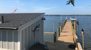 Awake To Stunning Water Views When Staying At This Tiny House On A Maryland Pier