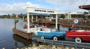 Take To The Open Ocean In These Vintage Floating Cars At The Boathouse In Florida