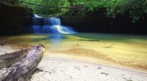 Wade In The Refreshing Waters On The Beach Of Scenic Creation Falls In Kentucky