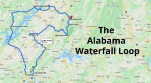 Alabama's Scenic Waterfall Loop Will Take You To 7 Different Waterfalls