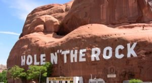 Hole N' The Rock In Utah Just Might Be The Strangest Tourist Trap Yet