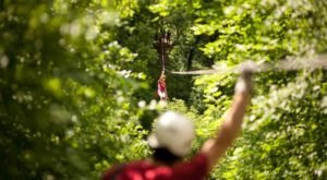One Of The Longest In Iowa, The Treetop Canopy Tour At Skytour Zipline Offers Thousands Of Feet Of Thrills