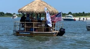 Turn North Carolina's Crystal Coast Into Your Own Oasis By Renting A Motorized Tiki Bar