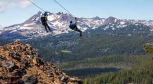 The Zipline At Mt. Bachelor In Oregon Is The Longest, Steepest, And Highest In The Northwest
