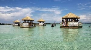 Turn Florida's Waterways Into Your Own Oasis By Renting A Motorized Tiki Bar