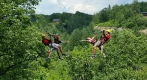 The Treetop Adventure At Red River Gorge Zipline In Kentucky Is One Of The Longest, Steepest, And Highest In The Region