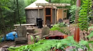 Go Off Grid At This Secluded Yurt In Pennsylvania That Boasts A Wood Fire Hot Tub
