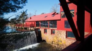 Dine Next To A Rushing Cascade At Millwright's, A Gorgeous Restaurant In Connecticut