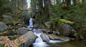 Visit Dixville Flume, New Hampshire's Beautiful Emerald Waterfall