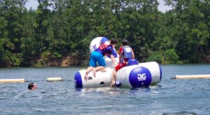 One Of Louisiana's Coolest Aqua Parks, White Sands Lake, Will Make You Feel Like A Kid Again