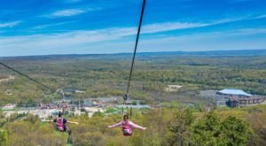 The Zipline At Camelback Mountain Adventures In Pennsylvania Is The Longest And Fastest Zipline In The U.S.