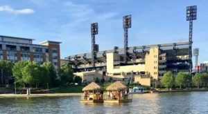 Turn Pennsylvania's Three Rivers Into Your Own Oasis By Renting A Motorized Tiki Bar
