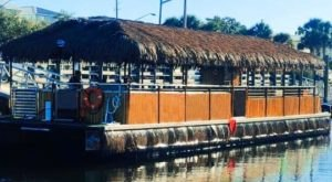 Turn Ohio's Cuyahoga River Into Your Own Oasis By Renting A Motorized Tiki Bar