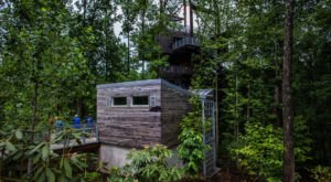 Few People Know Of The 5-Story Treehouse Hiding Deep In The West Virginia Woods