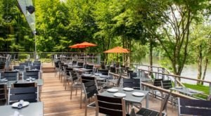 Have An Unforgettable Dinner Outdoors On The Multi-Tiered Deck At River, A Waterfront Restaurant In Connecticut