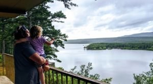 The Dot Of Water Visible From Mt. Magazine Is Actually Blue Mountain Lake, A Gorgeous Arkansas Campground