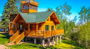 Climb To The Top Of A Tall Tower For Amazing Views At This Northern Minnesota Cabin