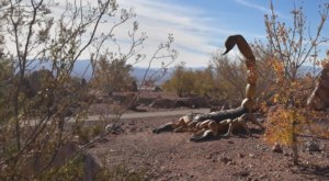The Hidden Nature Trail And Rock Garden In Nevada That's Filled With Giant Statues And Desert Views