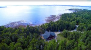 Enjoy A Secluded Beach And Stunning Sunsets At This Oceanfront Cabin In Maine