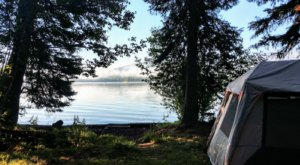 Camp Overnight On The Banks Of Oregon's Odell Lake, Surrounded By Natural Beauty