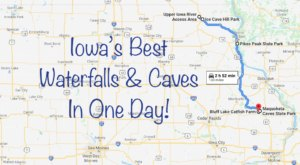 Take This Unforgettable Road Trip To Experience Some Of Iowa's Most Impressive Caves And Waterfalls