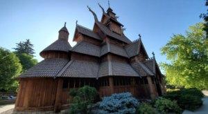 North Dakota's Stunning Gol Stave Church Is An Architectural Masterpiece