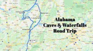 Take This Unforgettable Road Trip To Experience Some Of Alabama's Most Impressive Caves And Waterfalls
