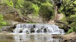 A Short But Beautiful Hike, Chalk Ridge Falls Park Trail Leads To A Little-Known Waterfall In Texas
