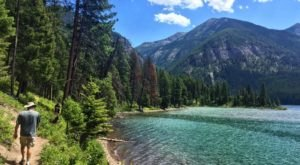 Featuring A Crystal Clear Lake And A Waterfall, Montana's Holland Lake Trail Is A Bucket List Hike