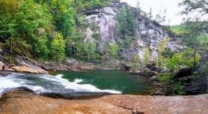 Take A Ride Down A Waterfall Sliding Board In Tallulah Gorge In Georgia