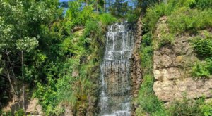 Marvel At The 44-Foot Waterfall At Krape Park, A Multi-Purpose Outdoor Facility In Illinois