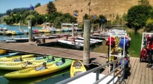 Grab Some Food And Rent A Kayak At Lake Chabot Marina & Cafe In Northern California