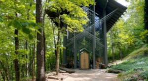Thorncrown Chapel Is A Pretty Place Of Worship In Arkansas