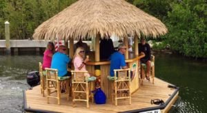 Turn Texas' Lake Conroe Into Your Own Oasis By Renting A Motorized Tiki Bar
