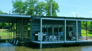 Enjoy Peaceful River Reflections While You Stay At The Slip Away Marina In Louisiana