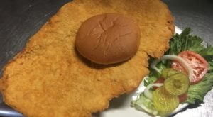 Lucky's Cafe In Missouri Serves Scrumptious Tenderloin Sandwiches Bigger Than The Plate