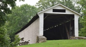 This Easily Accessible Union Covered Bridge In Missouri Is Only Steps From The Parking Lot