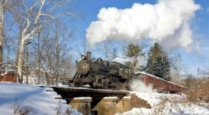 Journey To The North Pole On Santa's Steam Train Ride, A Festive Pennsylvania Excursion