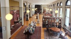 The Glass Flooors, Massive Collection, And Old World Charm At The Mercantile Library In Ohio Is A Book Lover's Dream