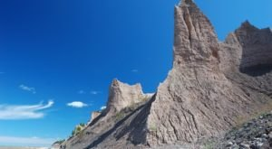 Walk Through Nearly 600 Acres Of Rock Formations at New York's Chimney Bluffs State Park