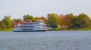 See The Most Breathtaking Fall Foliage From The Water On The Celebration Belle In Illinois