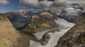 Grinnell Glacier At Glacier National Park In Montana Is A Geological Wonder
