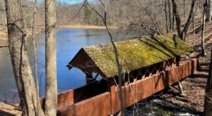 A 52-Acre Preserve In Connecticut, Oak Grove Nature Center Is Home To A Covered Bridge And Sparkling Pond