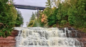 Agate Falls In Michigan Will Soon Be Surrounded By Beautiful Fall Colors