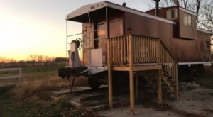 Spend The Night In A Retro Train Caboose At The CR Station Bed and Breakfast In Iowa