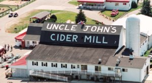 The Cider Yard At Uncle John's Cider Mill In Michigan Is The Perfect Place For Fall Fun